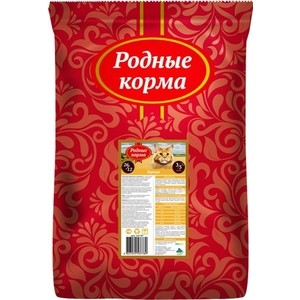 Сухой корм Родные Корма Курица 26/12 для взрослых кошек 3/5 пуда 10 кг