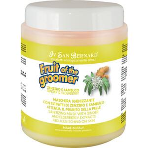 Маска Iv San Bernard Fruit of the Grommer Ginger & Elderberry Mask восстанавливающая с противовоспалительным эффектом для кожи животных 1 л