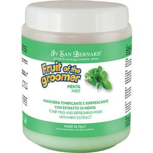 Маска Iv San Bernard Fruit of the Grommer Mint Tonifying & Refreshing Mask восстанавливающая с витамином B6 для любого вида шерсти животных 1 л