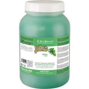Шампунь Iv San Bernard Fruit of the Grommer Mint Tonifying & Refreshing Shampoo восстанавливающий с витамином B6 для любого вида шерсти животных 3.25 л