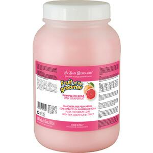 Маска Iv San Bernard Fruit of the Grommer Pink Grapefruit Mask for Medium Coat восстанавливающая с витамином B6 для шерсти средней длины 3 л
