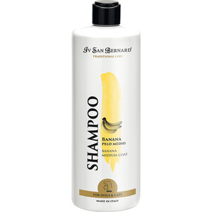 Шампунь Iv San Bernard Traditional Line Plus Shampoo Banana Medium Coat SLS Free для шерсти средней длины у животных 500 мл шампунь iv san bernard traditional line moussette dry foam shampoo сухой для животных 250 мл