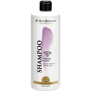 Шампунь Iv San Bernard Traditional Line Cristal Clean White Coat Shampoo для устранения желтизны белой шерсти животных 500 мл