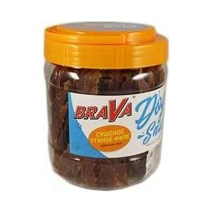 Лакомство BraVa Dog Snacks сушеное утиное филе для собак 400 г (110689)