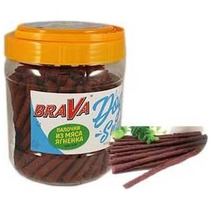 Лакомство BraVa Dog Snacks палочки из мяса ягнёнка для собак 700 г (110694)