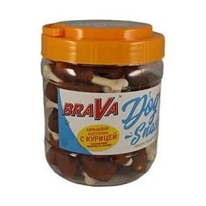Лакомство BraVa Dog Snacks кальциевая косточка с курицей для собак 700 г (110700)