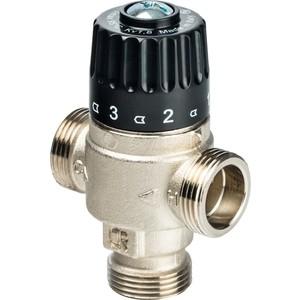 Смесительный клапан STOUT термостатический для систем отопления и ГВС 3/4 НР 30-65°С KV 1.8 (SVM-0025-186520) клапан предохранительный автоматический 1 2 вр нр 3 бара far для систем отопления