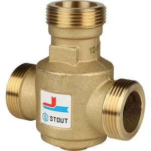 Смесительный клапан STOUT термостатический G 1 1/4 НР 60°С (SVM-0030-325506) адаптер stout диаметр 60 100 для котла вертикальный коаксиальный sca 6010 230100