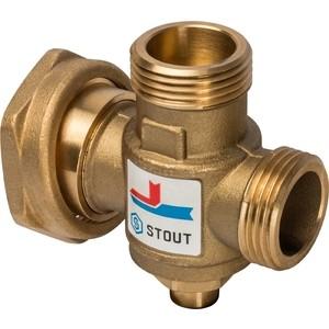 Смесительный клапан STOUT термостатический G 1 ВР G 1 1/2 НР G 1 ВР 70°С (SVM-0050-327007) виброплатформа g plate g 2 0 serebro