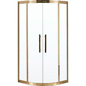 Душевой уголок Grossman 100x100 прозрачный, золото (PR-100G)