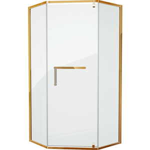 Душевой уголок Grossman 100x100 прозрачный, золото (PR-100GD)