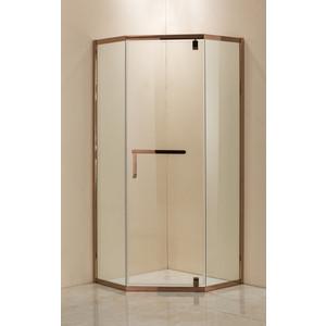 Душевой уголок Grossman 100x100 прозрачный, красное золото (PR-100RGD)