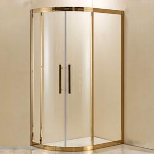 Душевой уголок Grossman 120x80 прозрачный, золото, правый (PR-120GR)