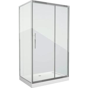 Душевой уголок Grossman 120x80 прозрачный, серебро, правый (PR-120SQR) душевой уголок grossman 90x90 прозрачный серебро pr 90sd