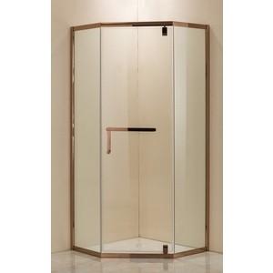 Душевой уголок Grossman 90x90 прозрачный, красное золото (PR-90RGD)