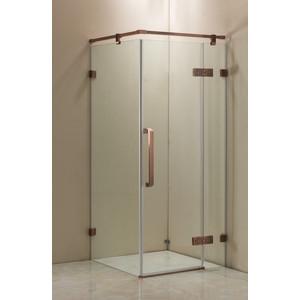 Душевой уголок Grossman 100x100 прозрачный, красное золото (ST-100RGQ)