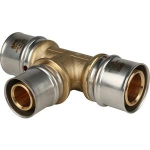 Тройник STOUT переходной 32х26х32 для металлопластиковых труб прессовой (SFP-0005-322632) stout тройник переходной 20x20x16 для металлопластиковых труб винтовой