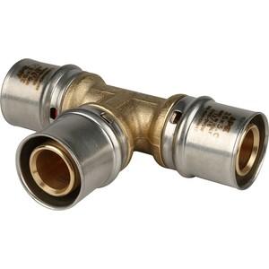 Тройник STOUT равнопроходной 26х26х26 для металлопластиковых труб прессовой (SFP-0006-262626) stout угольник переходник с наружной резьбой 3 4 х20 для металлопластиковых труб прессовой