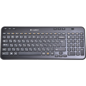 цена на Клавиатура Logitech Wireless Keyboard K360 Black USB (920-003095)