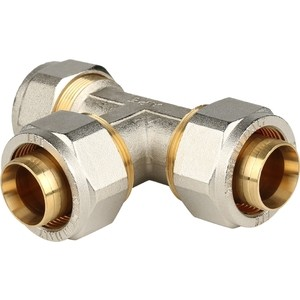 Тройник STOUT равнопроходной 32х32х32 для металлопластиковых труб винтовой (SFS-0009-000032)
