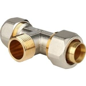 Тройник STOUT переходной с наружной резьбой 1 х 32 для металлопластиковых труб винтовой (SFS-0011-000132) stout угольник переходник с наружной резьбой 1х32 для металлопластиковых труб прессовой