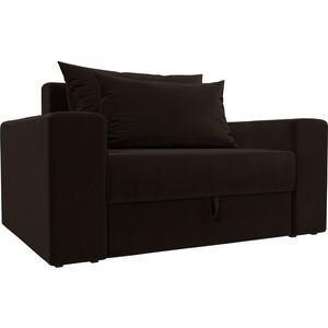 Кресло АртМебель Мэдисон микровельвет коричневый