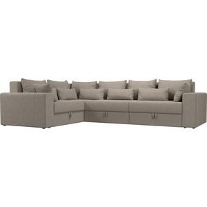 Угловой диван Мебелико Мэдисон Long рогожка бежевый левый угол
