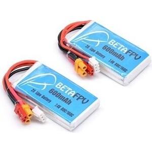 Аккумулятор BETA Li-Po 7.4 V 600 mAh, 80C, 2s1p (2 шт) аккумулятор vant li po 14 4в 1300мач 80c 2s разъемы xt 60