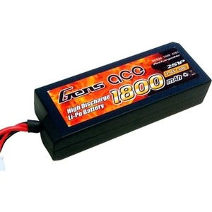 Аккумулятор Gens Li-Po 7.4 V 1800 mAh 30C (2S, Tamiya) - B30C18-2S