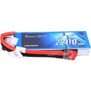 Аккумулятор Gens Li-Po 7.4 V 2200 mAh 45C (2S1P, EC3, XT60, Deans) - GA-B-45C-2200-2S1P-Deans аккумулятор vant li po 7 4 v 2200 mah 45c 2s разъемы xt 60 deans ec3