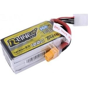 Аккумулятор Gens TATTU Li-pol 14.8 V 1300 mAh, 100C,4s1p R-Line2.0, XT60 - TA-RL-100C-1300-4S1P