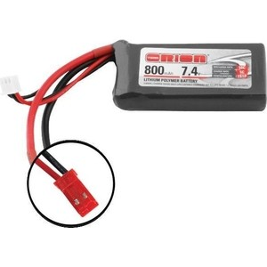 Аккумулятор Team Orion LiPo 7.4 V 2S 50C 800 mAh - ORI60130 аккумулятор team orion carbon sport lipo 7 4 v 2s 45c 1800 mah ori14181