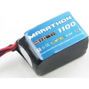 Аккумулятор Team Orion Marathon Life Hump RX LiFe 6.6 V 2S 30С 1100 mAh - ORI12258 аккумулятор team orion lipo 7 4 v 2s 50c 1800 mah ori60147