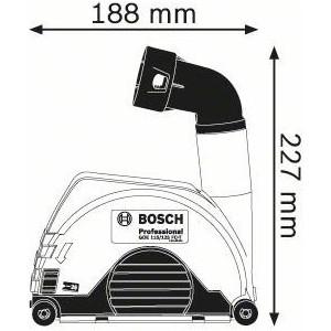 Насадки для пылеудаления Bosch GDE 115/125 FC-T (1.600.A00.3DK)