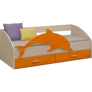 Кровать Регион 58 Дельфин 4 оранжевый/белфорт МДФ 80x160 все цены