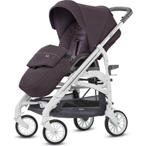 Коляска прогулочная Inglesina Trilogy на белом шасси MARRON GLACE коляска для новорожденных inglesina sofia на шасси ergo bike ab15k6mgl ae15h6100 marron glace