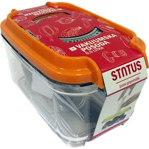 Контейнер для вакуумного упаковщика STATUS VAC-REC-05 Orange контейнер для вакуумного упаковщика status vac rec 45 blue
