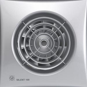 Вентилятор Soler&Palau осевой вытяжной с обратным клапаном D 100 (Silent100CZ Silver) все цены