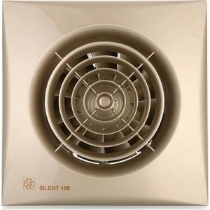 Вентилятор Soler&Palau осевой вытяжной с обратным клапаном D 100 (Silent100CZ Champagne)