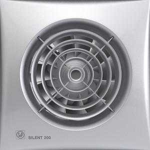 Вентилятор Soler&Palau осевой вытяжной с обратным клапаном D 120 (Silent200CZ Silver)