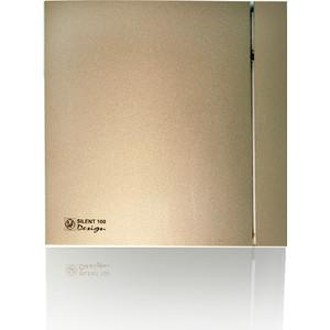 Вентилятор Soler&Palau осевой вытяжной с обратным клапаном D 100 (Silent100CZ Champagne DESIGN-4C)