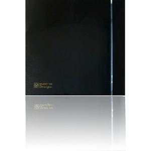 Вентилятор Soler&Palau осевой вытяжной с обратным клапаном D 100 (Silent100CZ Black DESIGN-4C)