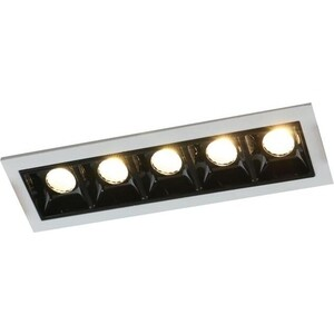 Встраиваемый светодиодный светильник Arte Lamp A3153PL-5BK встраиваемый светодиодный светильник artelamp a3153pl 3bk