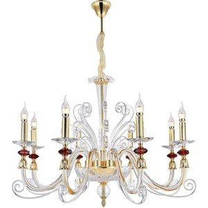 Подвесная люстра Crystal Lux Catarina SP8 Gold/Transparent-Cognac crystal lux подвесная люстра crystal lux alma white sp pl12 6 6