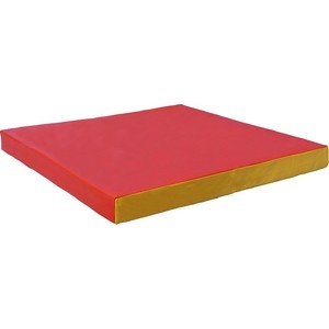 Мат КМС № 2 (100 х 100 10) красно-жёлтый