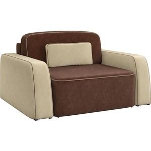 Кресло АртМебель Гермес микровельвет коричнево-бежевый