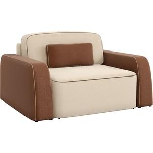 Кресло АртМебель Гермес рогожка бежево/коричневый