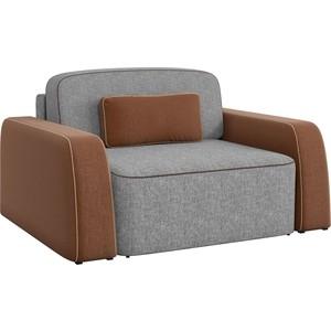 Кресло АртМебель Гермес рогожка серый/коричневый