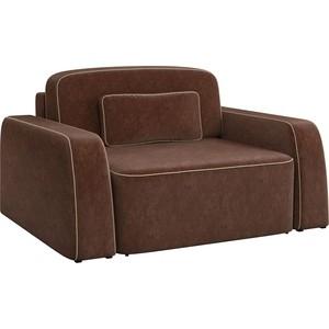 Кресло АртМебель Гермес микровельвет коричневый.