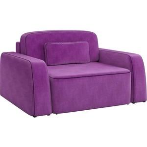 Кресло АртМебель Гермес микровельвет фиолетовый.